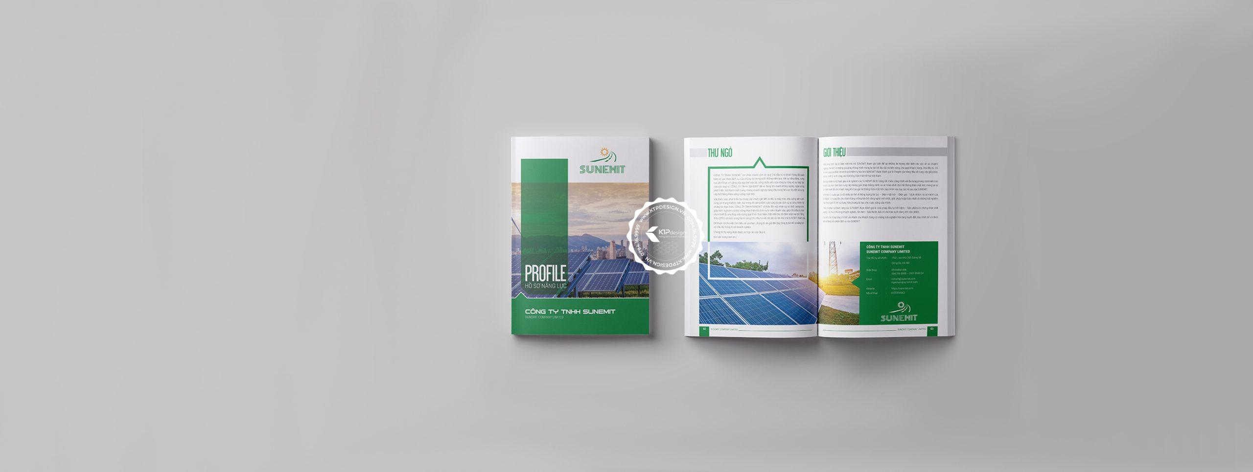Thiết kế hồ sơ năng lực - banner